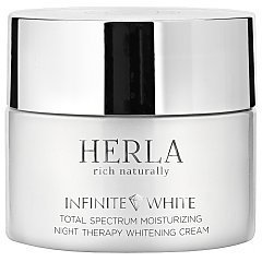 Herla Infinite White Total Spectrum Moisturizing Night Therapy Whitening Cream 1/1