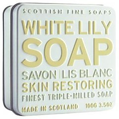 The Scottish Fine Soaps White Lily Soap In A Tin 1/1