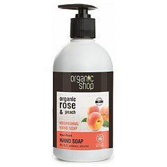 Organic Shop Rose Peach Hand Soap 1/1