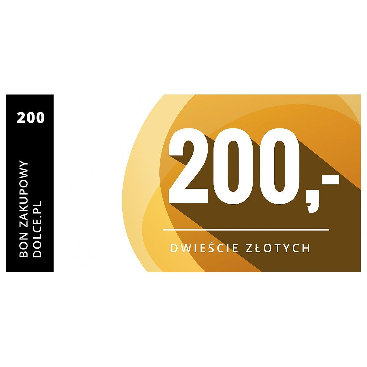 a8f9e86b5410ff Bon podarunkowy Dolce.pl Kupon elektroniczny o wartości 200 zł ...